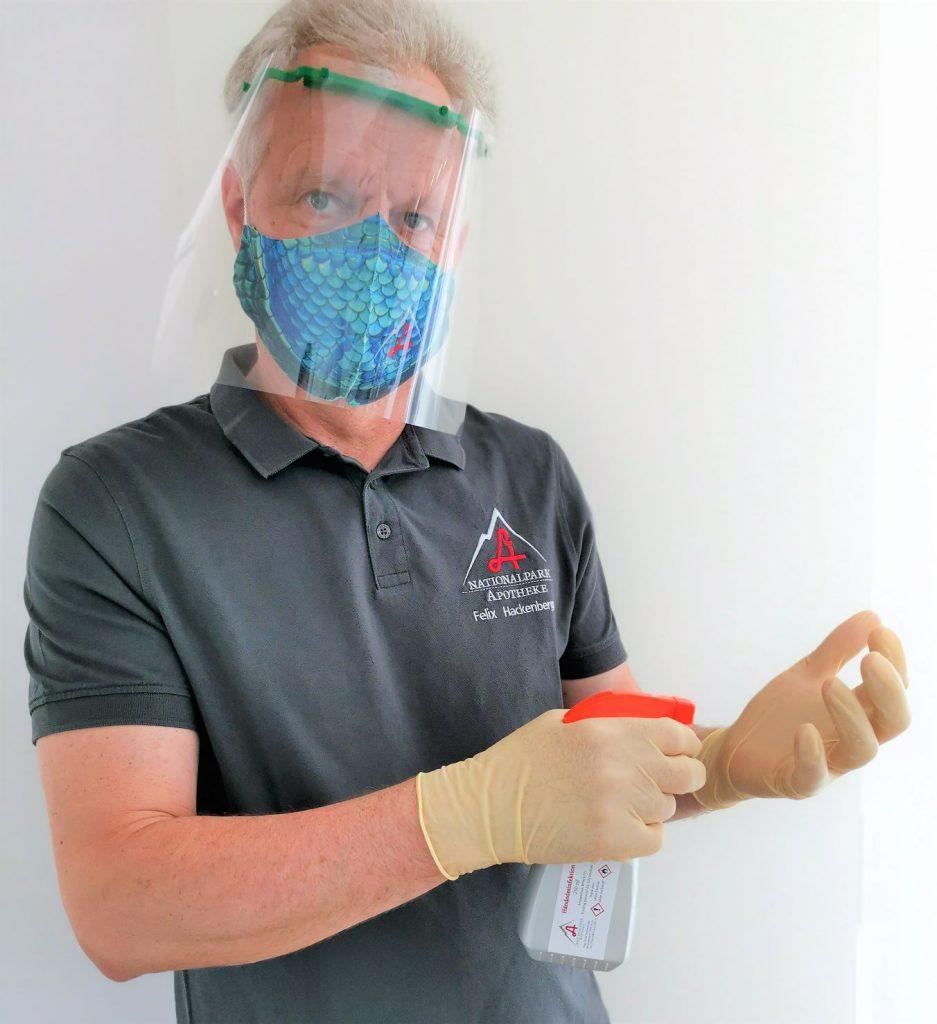 Mund-Nasen-Masken und Schutzmasken